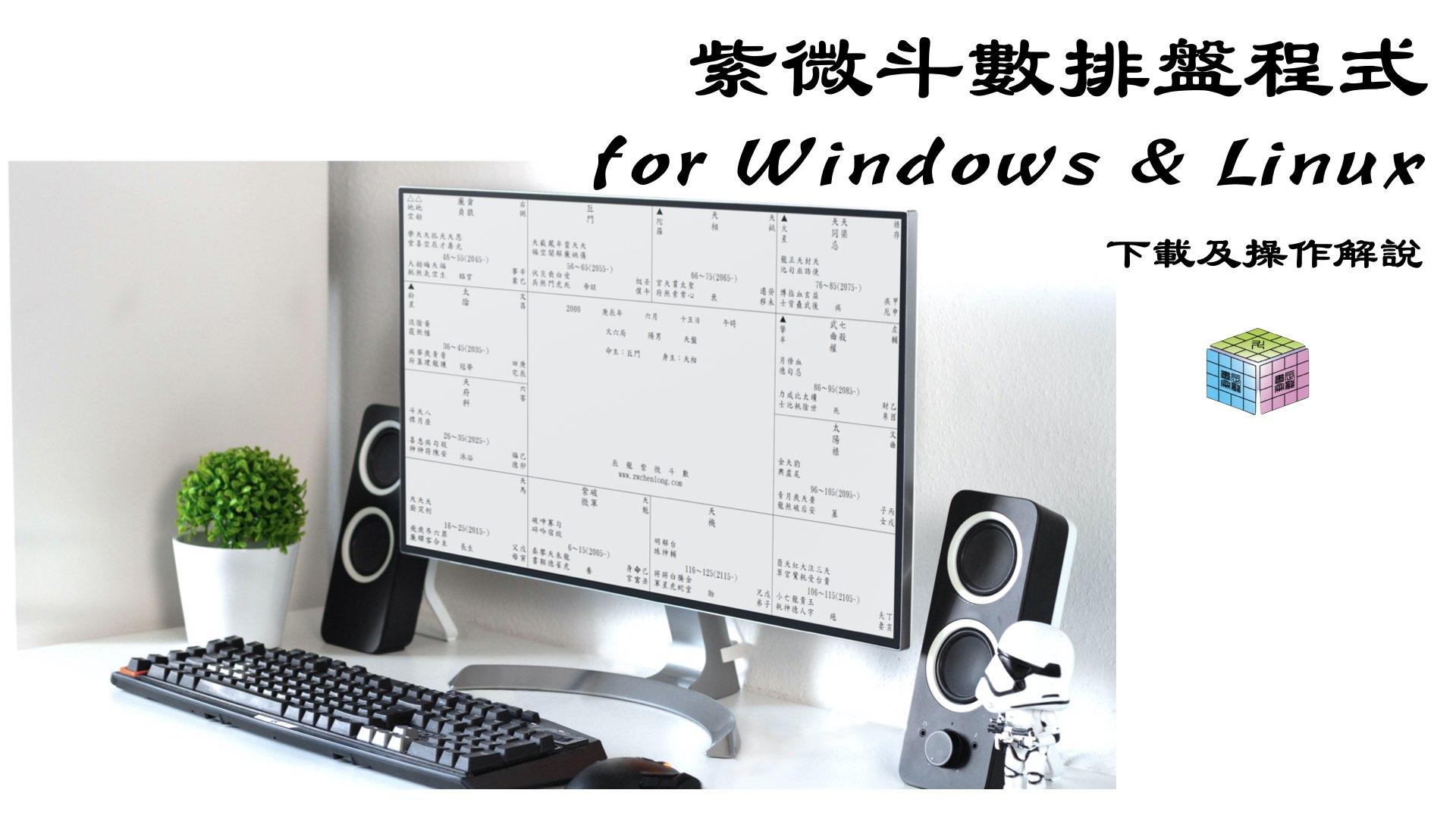 紫微斗數排盤程式下載及解說 for Windows & Linux